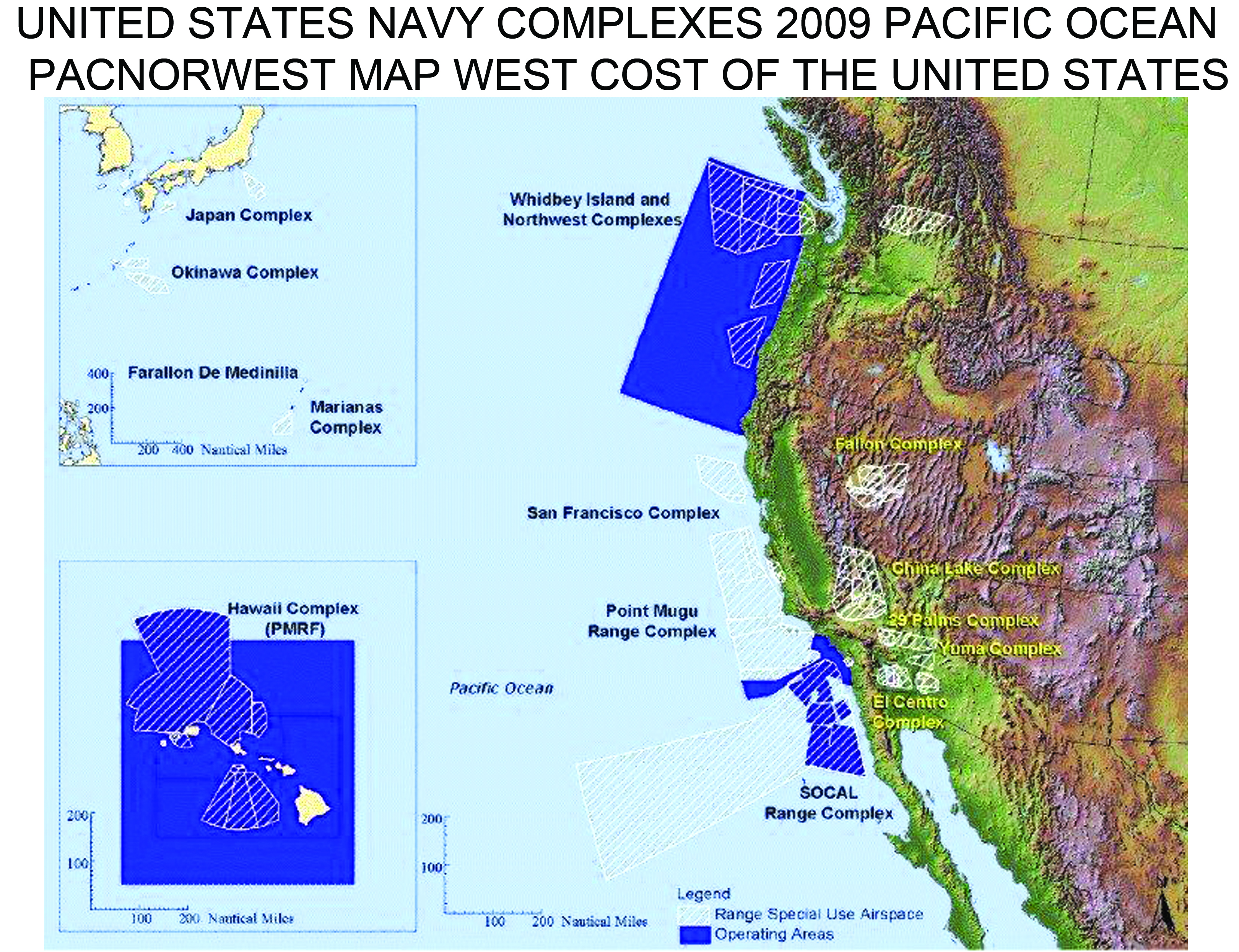 US Navy Pacific Warfare Testing Ranges War Costs